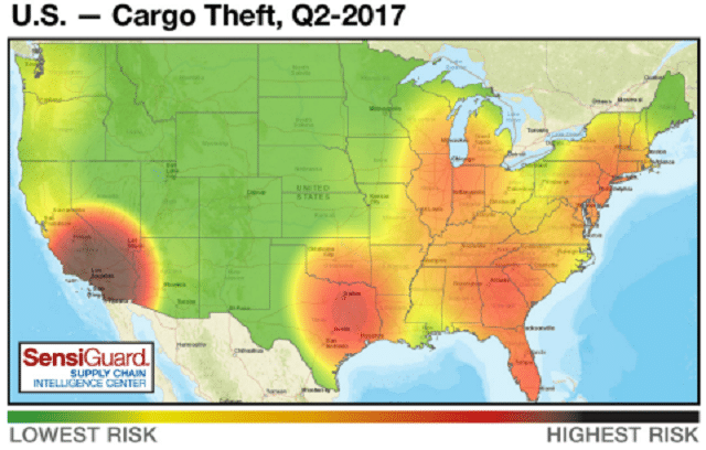 Sunbelt Finance SensiGuard-2q2017-2017-08-09-14-55 Cargo Thefts down in 2nd Quarter Industry News