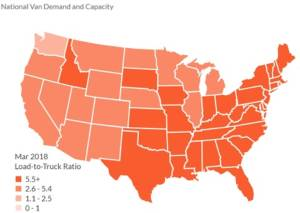Sunbelt Finance Load-to-truck-ratio-300x213 VAN RATES FALL 3¢ Featured Industry News